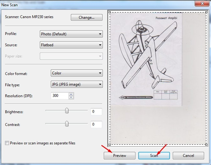 cara scan dokumen dengan printer canon mp237
